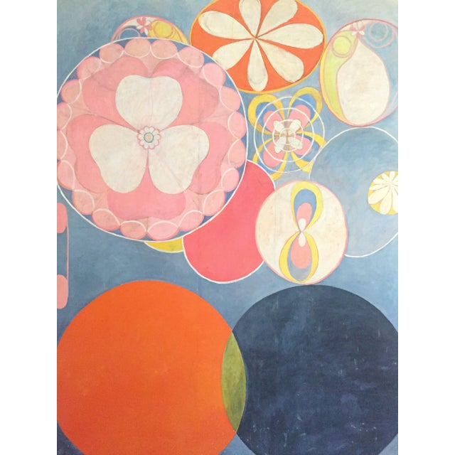 """2010s Hilma Af Klint Swedish Abstract Lithograph Print Moderna Museet Exhibition Poster """" the Ten Largest, Childhood No.2 Group IV """" 1907 For Sale - Image 5 of 11"""