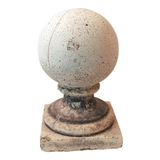 Weathered Cast Concrete Finial For Sale