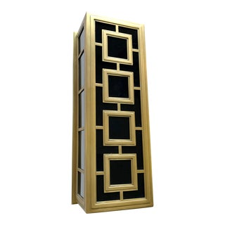 Gold Geometric Jonathan Adler Wall Sconce by Robert Abbey For Sale