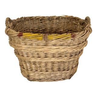 Vintage French Champagne Harvest Basket For Sale