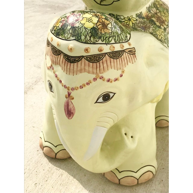 1980s Vintage Elephant Garden Stool For Sale In New Orleans - Image 6 of 7