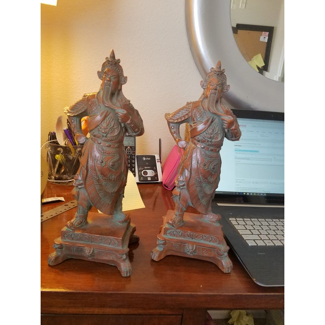 Chinese Warrior Figurines - A Pair - Image 2 of 7