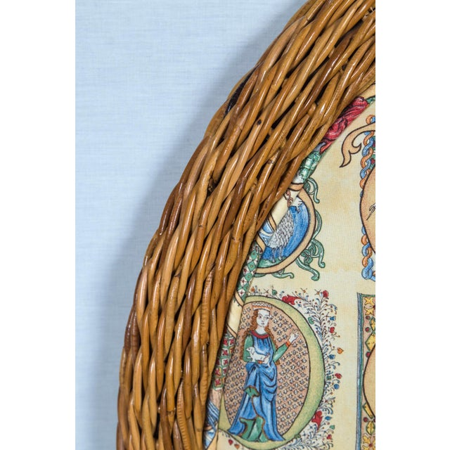 Wicker Pair of Arched Wicker/Rattan Twin Size Headboards For Sale - Image 7 of 13