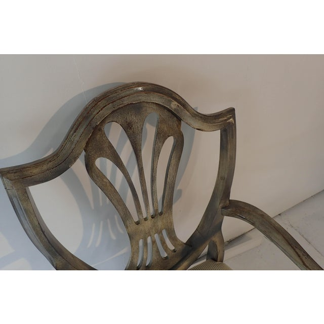 Duncan Phyfe Style Side Chair Distressed Decor Finish 38.5H x 23D x 24W For Sale - Image 4 of 9
