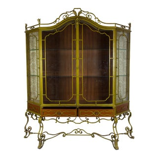 Vintage Art Deco Painted Ironwork Display Cabinet