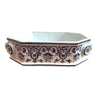Antique Dutch French Faience Footed Dish For Sale