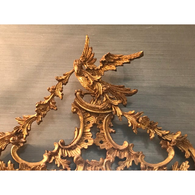 Belle Époque Gold Carved Wood Mirror For Sale - Image 4 of 6