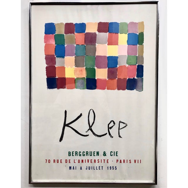 Glass Vintage Paul Klee French Exhibit Gallery Poster For Sale - Image 7 of 7