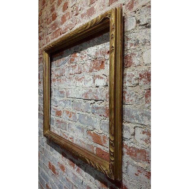 "Gold Art Nouveau 24x30"" Gilt Wood Frame -C1900s For Sale - Image 8 of 11"
