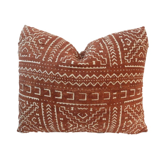 """African Custom Made Mud cloth Pillow 20 """" by 17"""" W For Sale"""