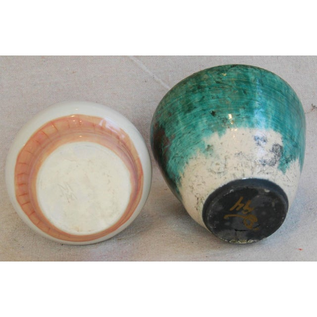 Mid-Century Studio Art Pottery Vases - Set of 2 For Sale - Image 4 of 11