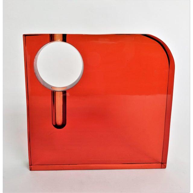 Orange Lucite Bud Vase For Sale In Miami - Image 6 of 11
