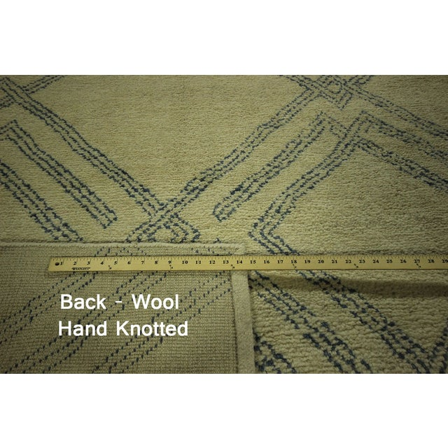 Diamond Moroccan Hand Knotted Rug - 10' x 13' - Image 7 of 10