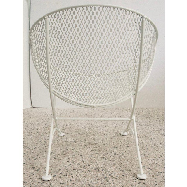 "Vintage Mid Century Salterini White Patio ""Clamshell"" Side Chair For Sale In West Palm - Image 6 of 7"