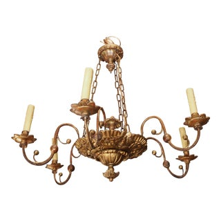 Early 19th Century Italian Giltwood Chandelier For Sale