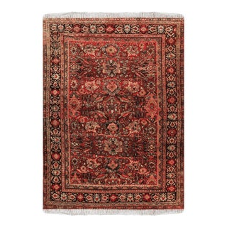 "1950s Sarouk Wool Persian Rug-8'10"" X 11'10"" For Sale"
