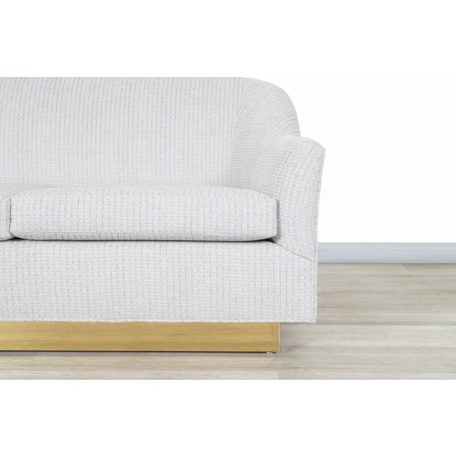Metal Vintage Brass Loveseat by Milo Baughman for Thayer Coggin For Sale - Image 7 of 12
