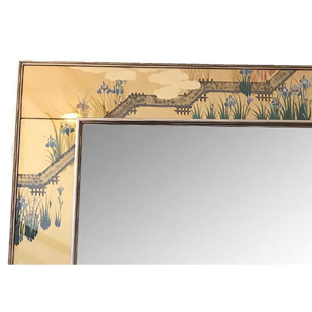 Contemporary 1980s Contemporary Mirror With Floral Edge For Sale - Image 3 of 6