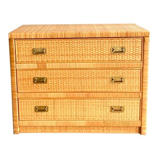 Coastal Dixie Rattan Chest of Drawers For Sale