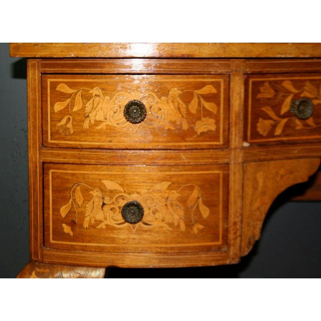 Brown Late 19th Century Dutch Marquetry Dressing Table For Sale - Image 8 of 11