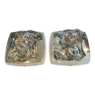 1970s Kalmar Ice Crystal Wall Lights - a Pair For Sale