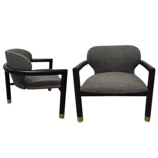 Pair of Sculptural Lounge Chairs For Sale