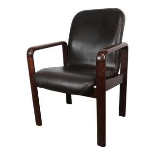 1960s Danish Modern Dyrlund Mahogany Armchair For Sale