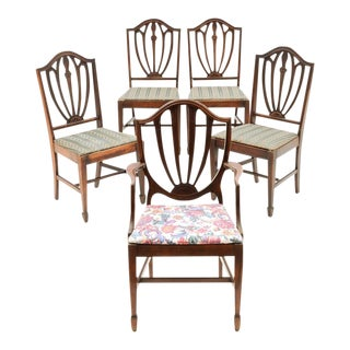 Vintage Duncan Phyfe Style Dining Chairs - Set of 5