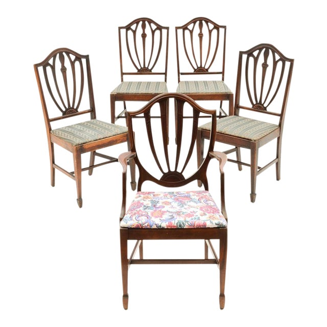 Vintage Duncan Phyfe Style Dining Chairs - Set of 5 - Image 1 of 7