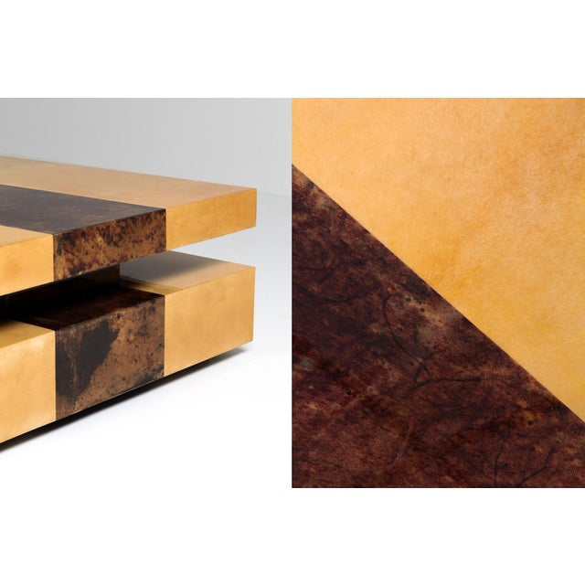 Aldo Tura Two-Tier Sliding Coffee Table For Sale - Image 11 of 12
