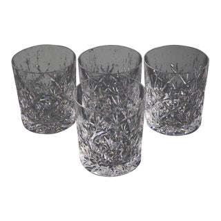 Tiffany & Co. Sybil Crystal Double Old Fashioned Glasses - Set of 4 For Sale