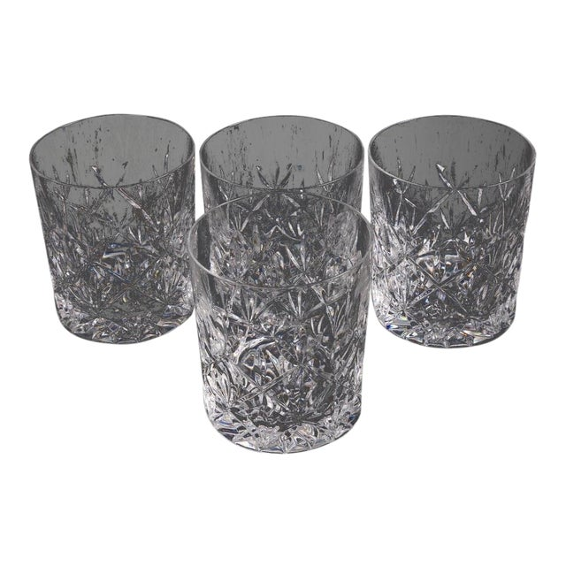 e43ee7cb1b94 Tiffany   Co. Sybil Crystal Double Old Fashioned Glasses - Set of 4 For Sale