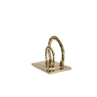 Lucky Horseshoe Brass Mail Holder For Sale