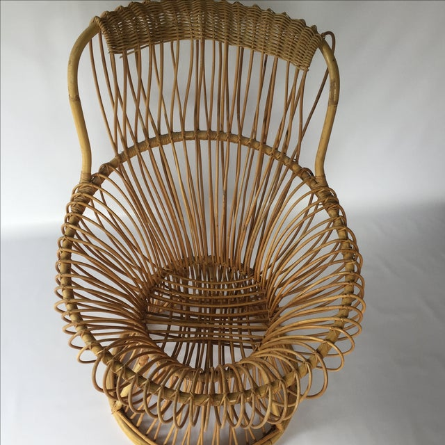 Franco Albini Style Vintage Rattan Margarita Chair For Sale In Sacramento - Image 6 of 7