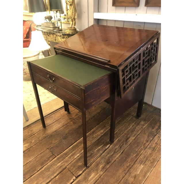Rare 19th Century Mahogany Mechanical Architect's Desk For Sale - Image 4 of 13