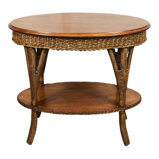 1930's Wicker Table For Sale