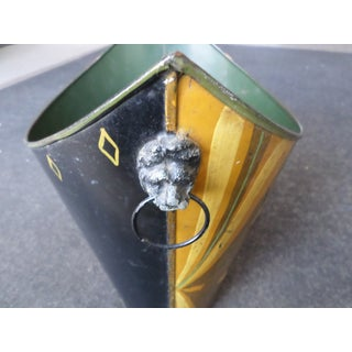 Hollywood Regency Hand-Painted Tole Waste Can Preview