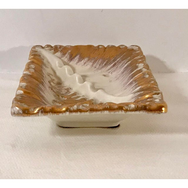 Vintage Mid-Century Royal Haeger 22k Gold Tweed Ashtray For Sale In Dallas - Image 6 of 8