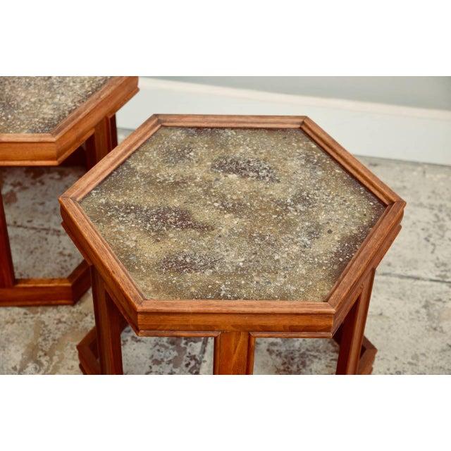Brown Saltman John Keal for Brown Saltman Hexagonal Side Tables - a Pair For Sale - Image 4 of 8