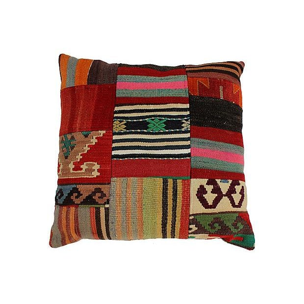 Patchwork Kilim Large Pillow - Image 2 of 5
