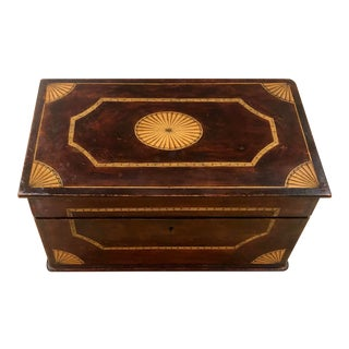 Late 19th Century Antique English Wooden Stationary Box For Sale