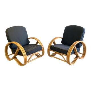 Paul Frankl Style Pretzel Chairs - a Pair For Sale