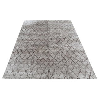 Vintage Mid-Century Modern Gray Rug - 9′10″ × 14′1″ For Sale