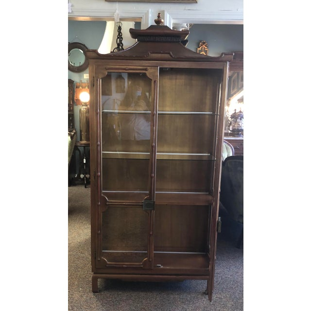 James Mont Chinoiserie Pagoda Curio Cabinet For Sale - Image 11 of 13