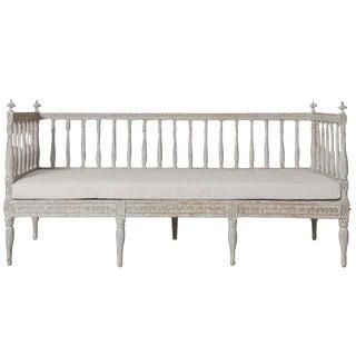 19th Century Swedish Gustavian Period Sofa Bench For Sale