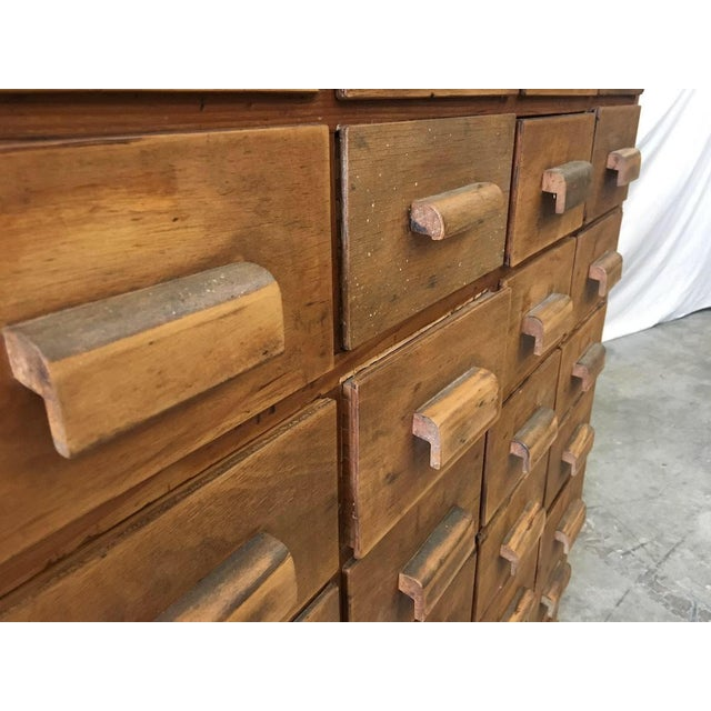 Antique Pine Apothecary Cabinet - Image 3 of 11 - Antique Pine Apothecary Cabinet Chairish