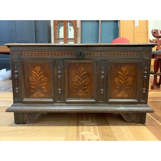 Early-20th Century Wood European + Inlaid Designs Trunk Preview