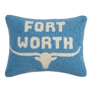 """Fort Worth Hook Pillow, 12"""" x 16"""" For Sale"""