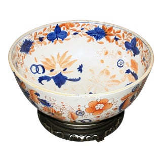 "Early 19th Century English Ironstone ""Imari"" Punch Bowl For Sale"