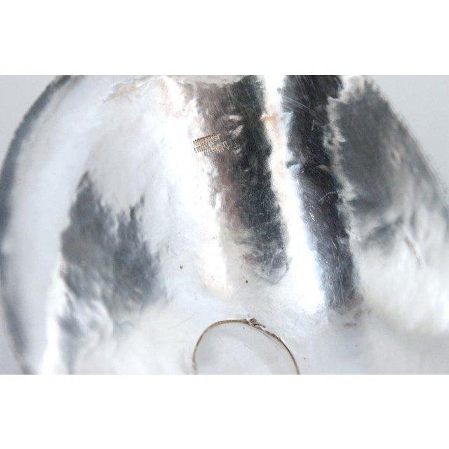 Sculptural Modernist Sterling Creamer and Sugar Bowl For Sale - Image 10 of 11
